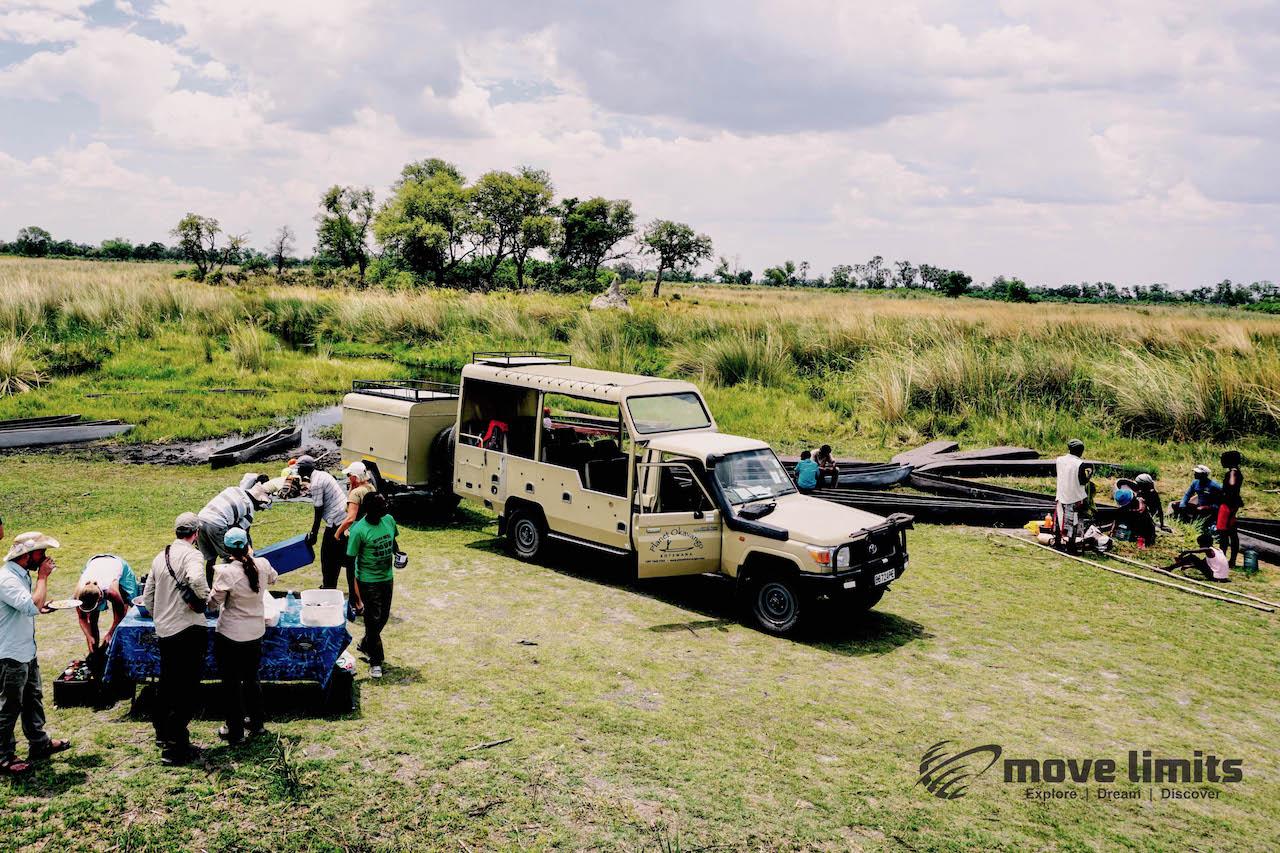 Zwei Tage im Delta des Okavango in Botswana - Ablegestelle - movelimits.de