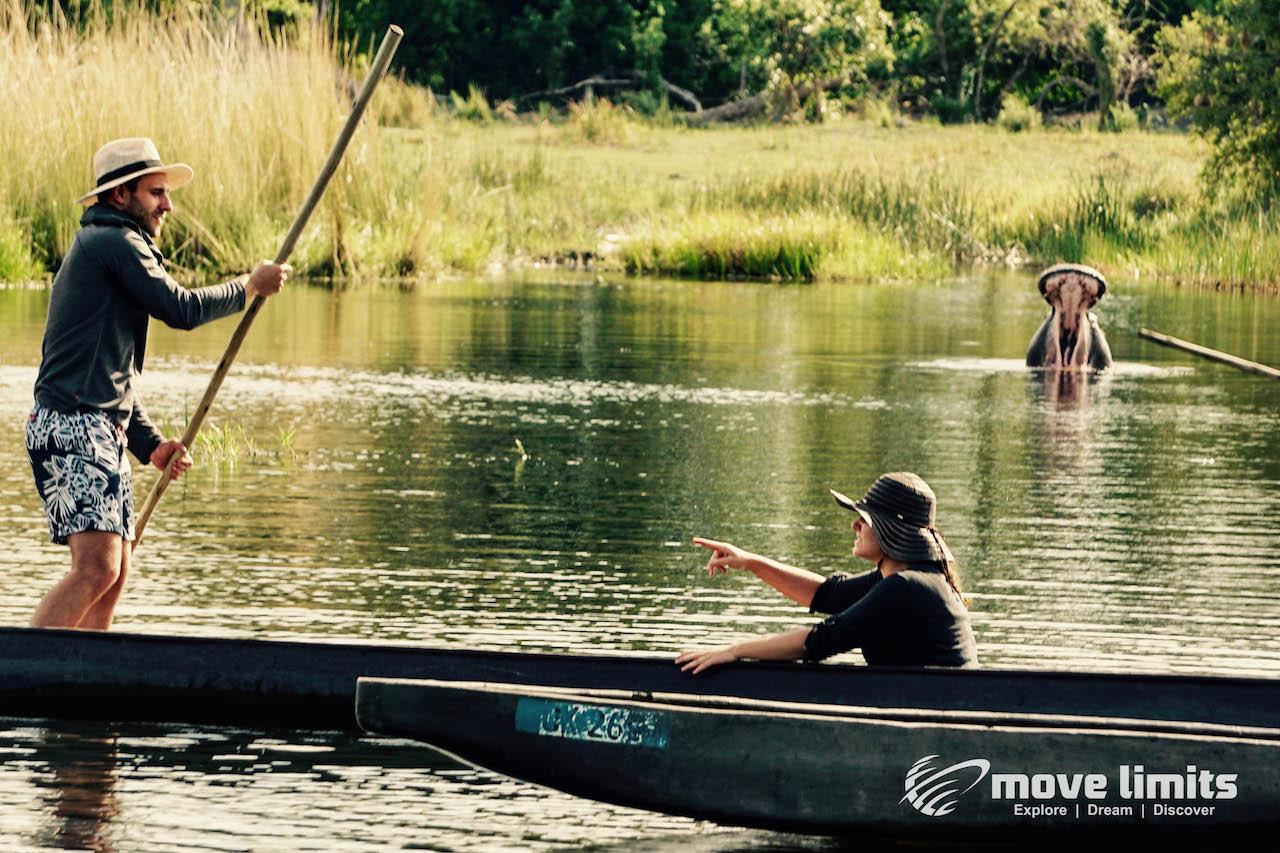 Zwei Tage im Delta des Okavango in Botswana - Im Revier des Krokodils - movelimits.de
