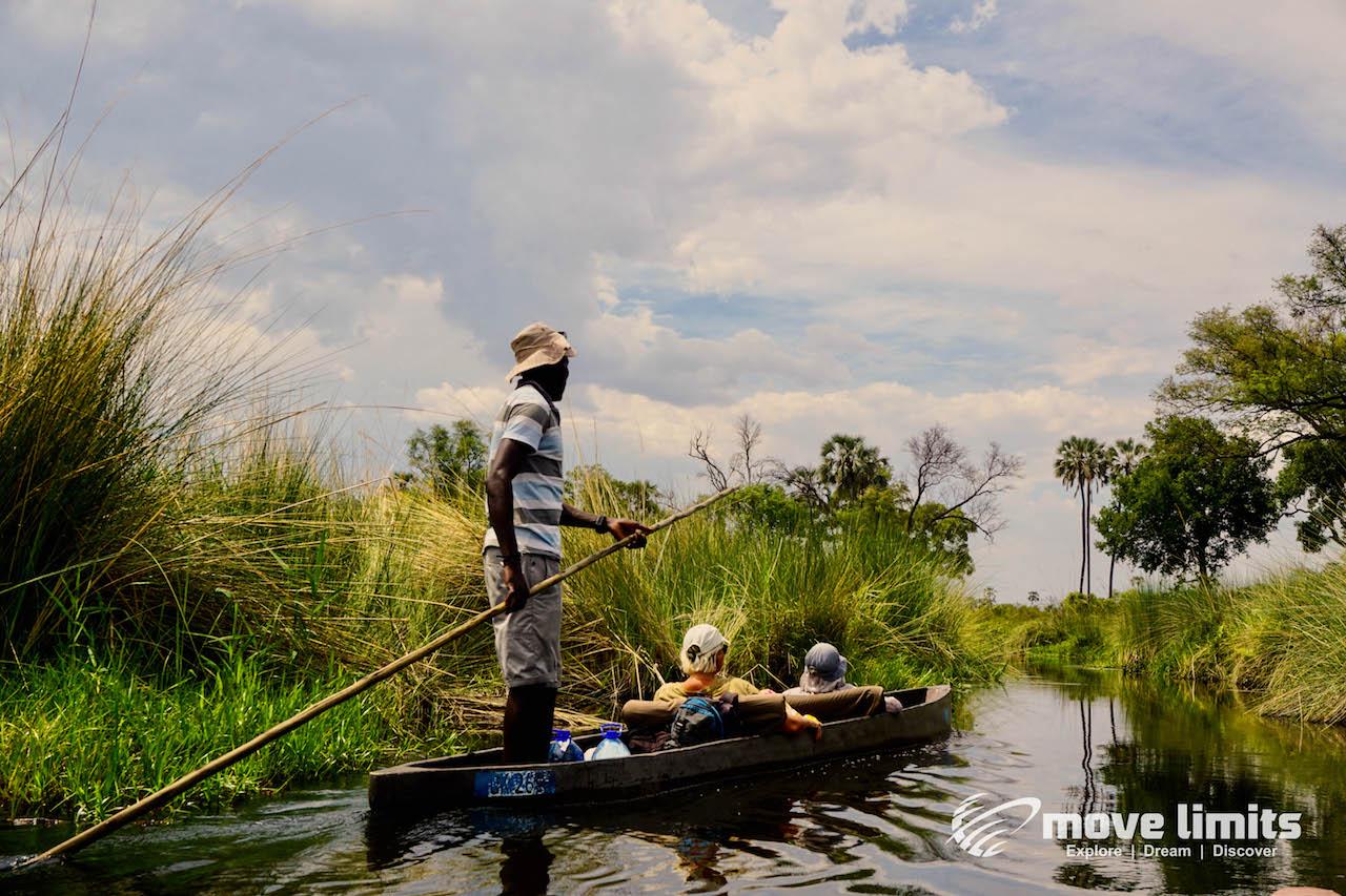 Zwei Tage im Delta des Okavango in Botswana - Unterwegs mit dem Mokoro im Delta - movelimits.de