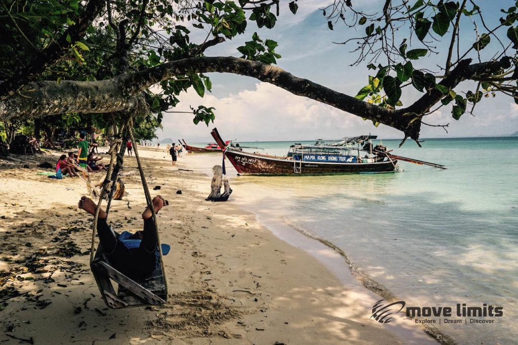 Schnorcheln im Paradies - Krabi Thailand - Mittagspause auf Koh Ngai Koh Hai - movelimits.de