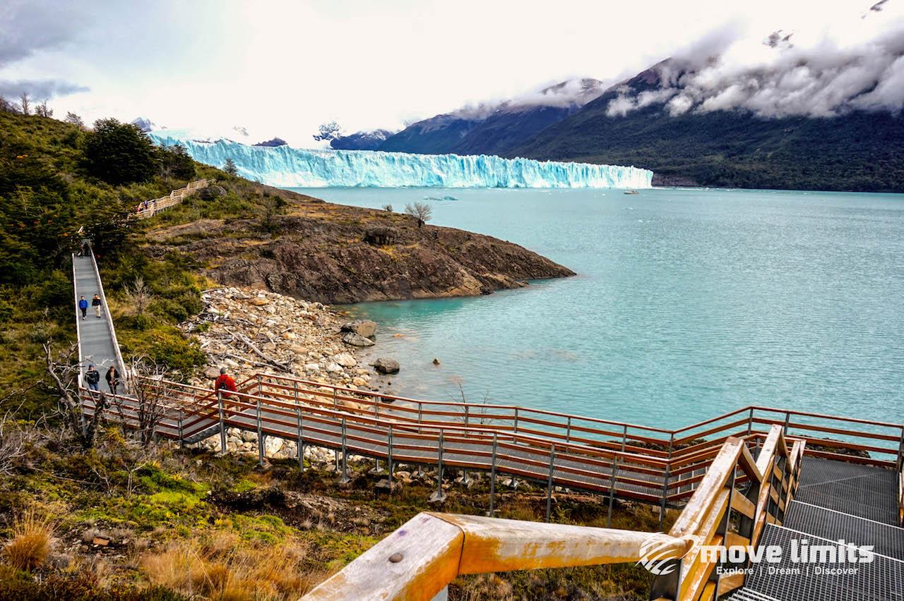Perito Moreno Gletscher in Argentinien - Blick zurueck zum Gletscher - movelimits.de