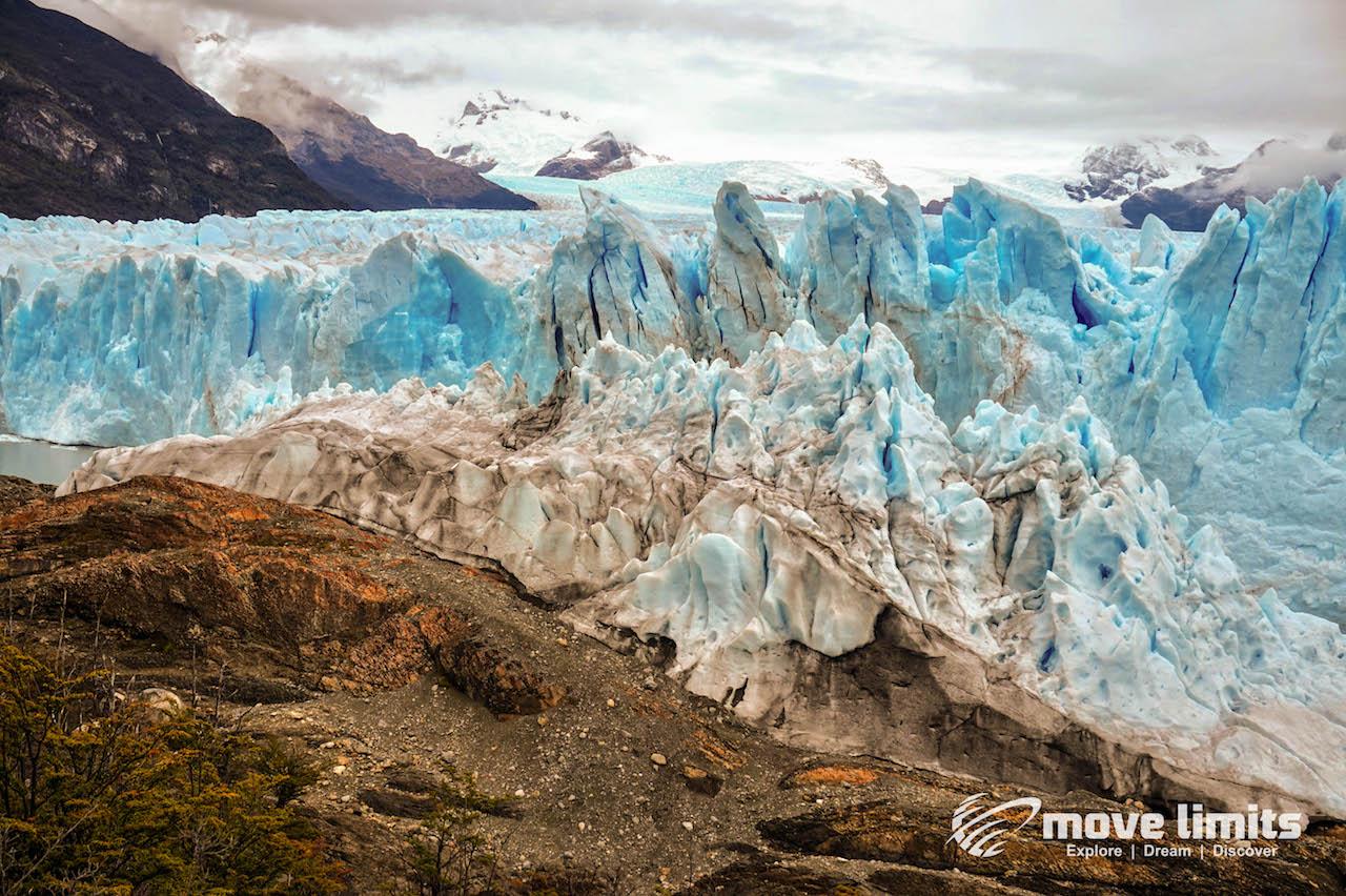 Perito Moreno Gletscher in Argentinien - Gletscher trifft auf Halbinsel - movelimits.de