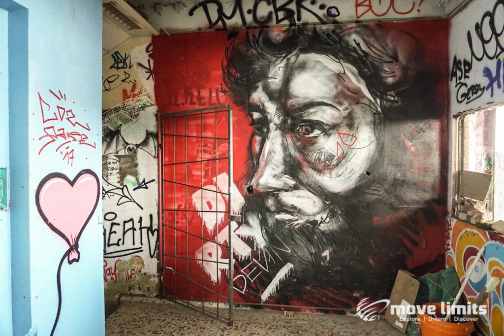Abhörstation Teufelsberg Berlin - Kalter Krieg und Graffiti - movelimits.de - Charakterkopf