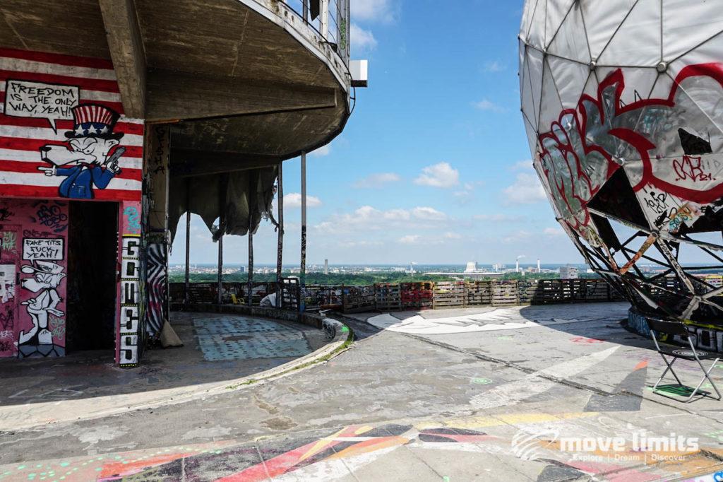Abhörstation Teufelsberg Berlin - Kalter Krieg und Graffiti - movelimits.de - Impression vom Dach