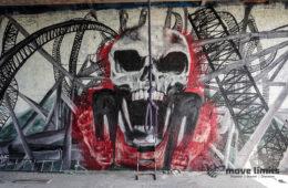 Abhoerstation Teufelsberg Berlin - Kalter Krieg und Graffiti - movelimits.de - Totenkopf