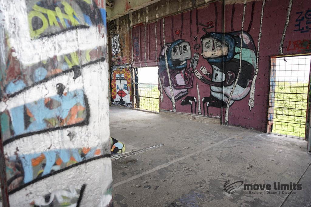 Abhörstation Teufelsberg Berlin - Kalter Krieg und Graffiti - movelimits.de - erwischt
