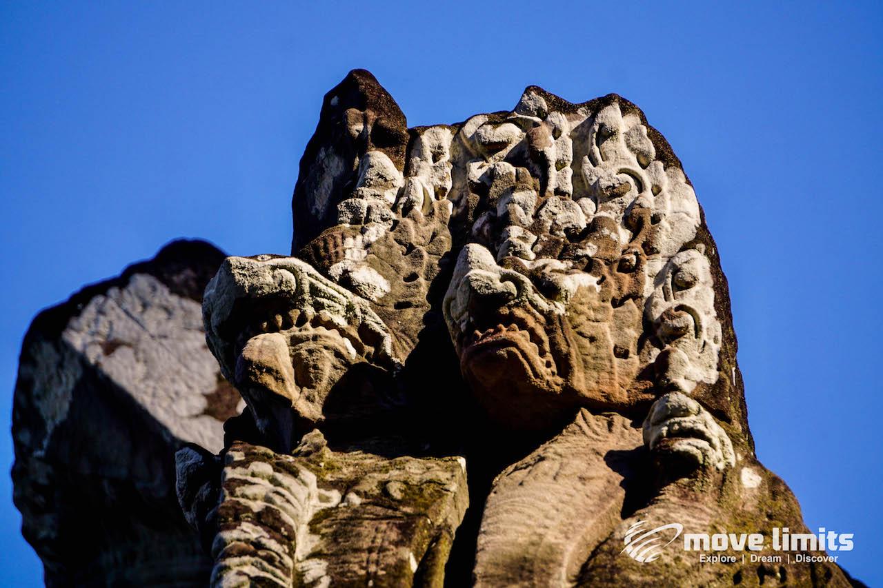 Angkor Thom und Angkor Wat - movelimits.de -Banteay Kdei - Detail an einem Tempel