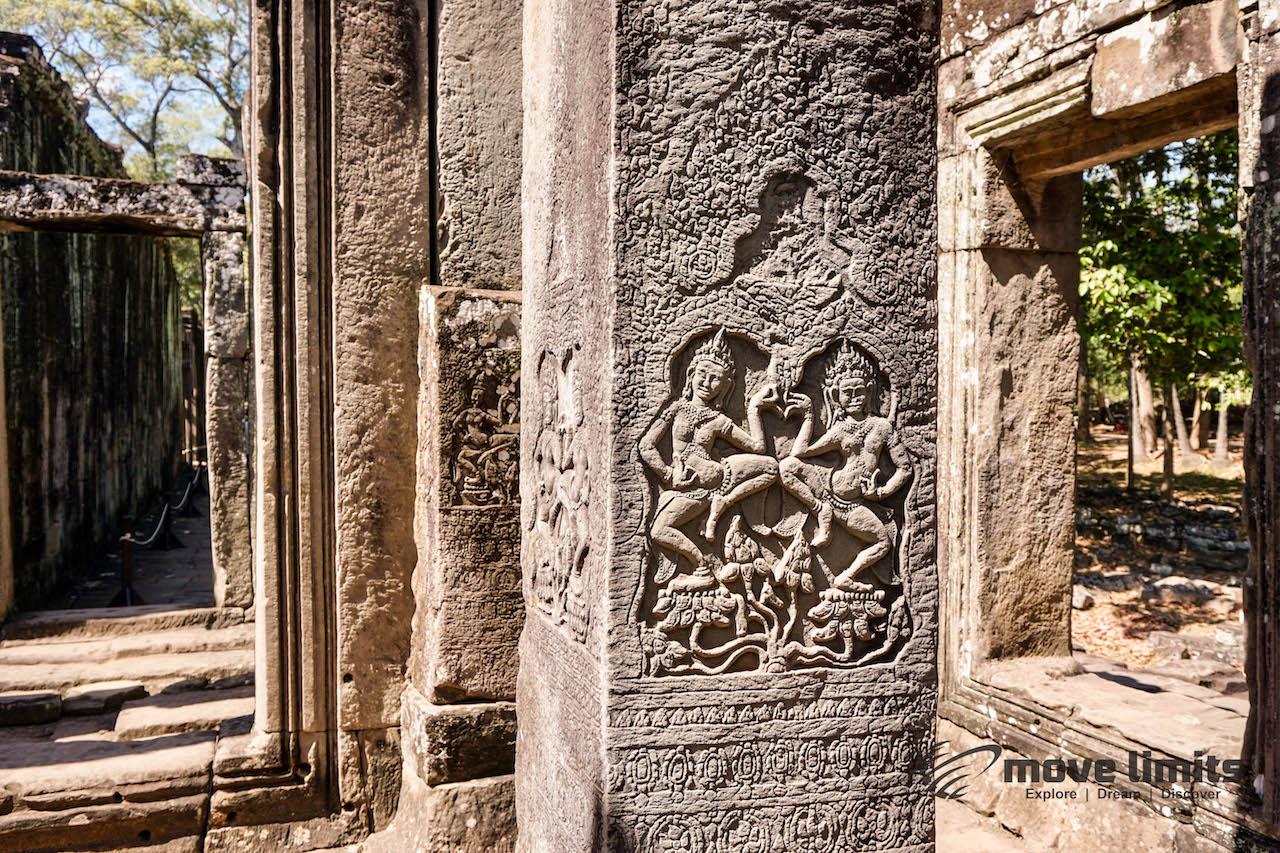 Angkor Thom und Angkor Wat - movelimits.de - Bayon Jede Ecke etwas zu entdecken