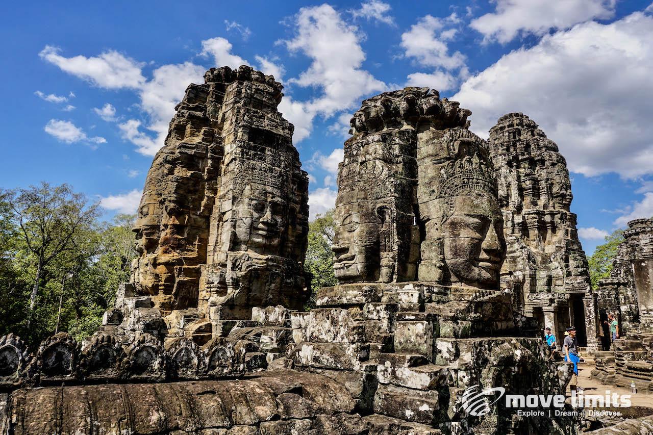 Angkor Thom und Angkor Wat - movelimits.de - Beeindruckender Bayon Tempel