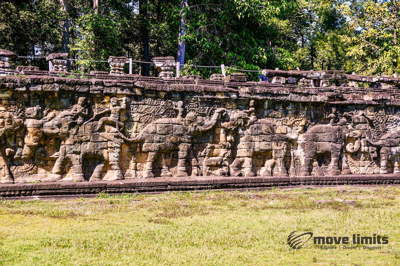 Angkor Thom und Angkor Wat - movelimits.de - Die Elefanten-Terrasse