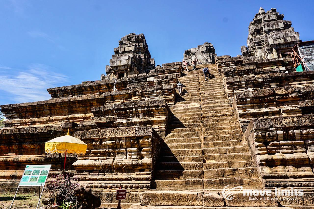 Angkor Thom und Angkor Wat - movelimits.de - lange Treppe